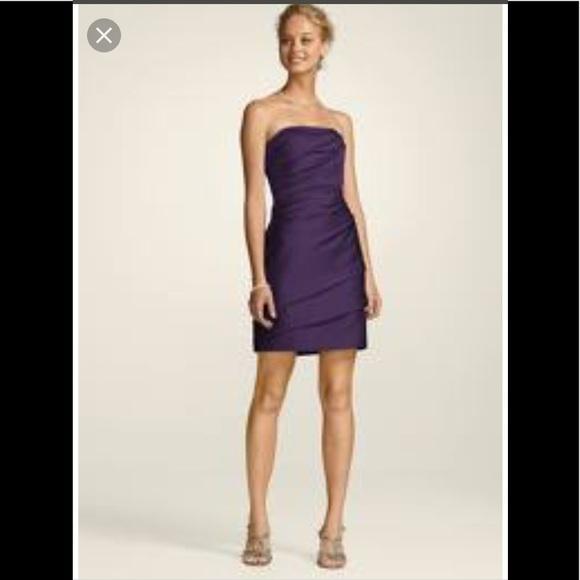 Nwt Davids Bridal Short Strapless Dress